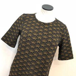 Ann Taylor LOFT Short Sleeve Print Dress sz M